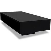 Table Basse Noir Brillant 115x55x31 cm