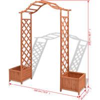 Arche pour rosiers avec jardinières Treillis 180x40x205 cm