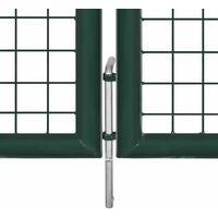 Portail de Clôture en Grillage Galvanisée 289x75 cm/306x125 cm
