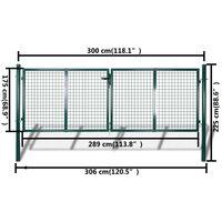 Portail de Clôture en Grillage Galvanisée 289x175 cm/306x225 cm