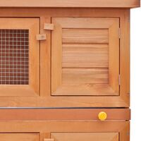 Clapier d'extérieur Enclos pour petits animaux 4 portes Bois