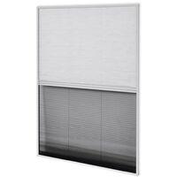 Moustiquaire Plissée pour Fenêtre et Store Aluminium 60x80 cm