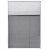 Moustiquaire plissée pour fenêtre 160 x 80 cm avec store occultant