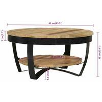 Table Basse 65x32 cm Bois Massif de Manguier