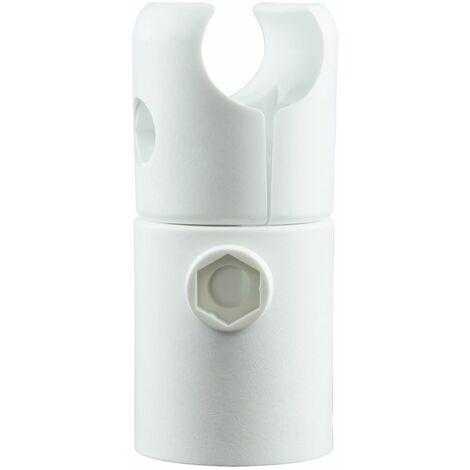 Radiateur sèche-serviette à eau chaude Europa, blanc, inertie fluide, vertical, raccord central, Schulte, 70 x 50 cm, 330 W
