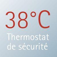 Colonne de douche avec tablette et thermostat intégré, 45 x 112 cm, Rain III Schulte, douchette à main ronde, pommeau rond orientable, aspect chromé