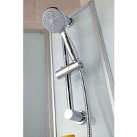 Cabine de douche intégrale avec porte coulissante, verre 5 mm, cabine de douche complète Ibiza, Schulte, 80 x 120 cm, paroi latérale à gauche, ouverture vers la droite
