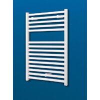Radiateur sèche-serviette à eau chaude, blanc, inertie fluide, vertical, Schulte, 70 x 50 cm, 307 watts