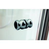 Porte de douche pivotante-pliante, verre 6 mm, profilé en aspect chromé, Garant, Schulte, 90 x 200 cm, ouverture vers la droite