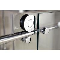 Accès d'angle droit avec portes de douche coulissantes, 90 x 90 x 200 cm, verre 8 mm, profilé aspect chromé, MasterClass, Schulte