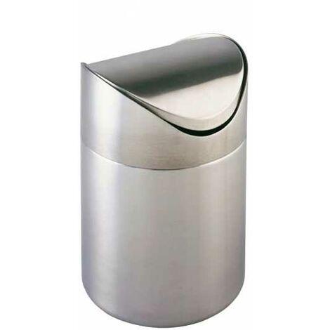 Petite poubelle salle de bain, 3L, Otranto, acier inox WENKO