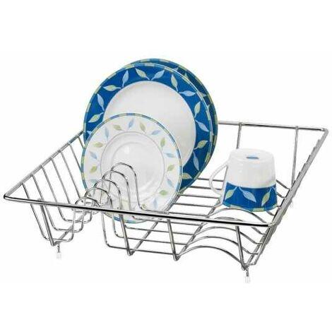 Égouttoir vaisselle, égouttoir vaisselle inox, 34x11x36 cm WENKO