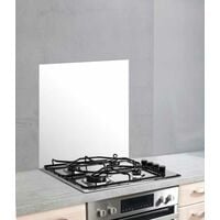 Fond de hotte, crédence cuisine verre, Blanc, 60x70 cm