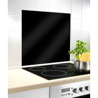 Fond de hotte, crédence cuisine verre, Noir, 60x70 cm