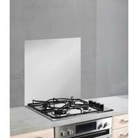 Fond de hotte, crédence cuisine verre, couleur argent, 60x70 cm