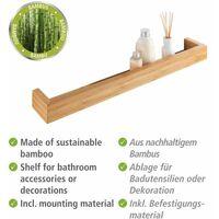 Cimaise, étagere salle de bain bambou, L60 cm, Bambusa