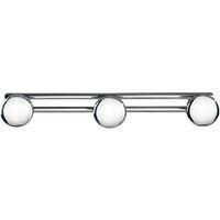 Patère murale salle de bain, crochet porte manteau, Basic, avec 3 crochets WENKO