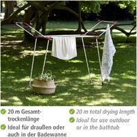 Etendoir linge, séchoir à linge pliable, Summer Dry, longueur d'étendoir 13m