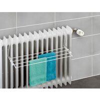 WENKO Etendoir radiateur, séchoir a linge extérieure balcon, blanc, 59x16 cm