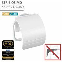 Static-Loc® dérouleur de papier hygiénique avec couvercle Osimo blanc WENKO