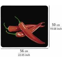 Fond de Hotte, Crédence Cuisine, Verre trempé, Hot Peperoni, 50x56 cm