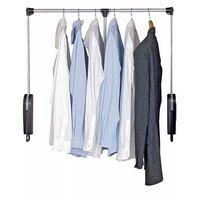 Penderie escamotable, barre dressing extensible, 87-121 cm