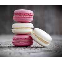 """Fond de hotte, crédence cuisine verre """"Macarons"""", 60x50 cm"""