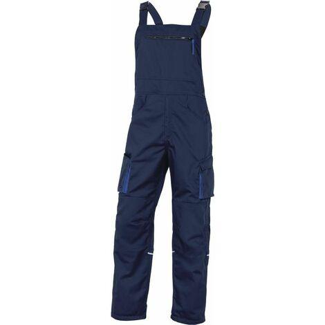 SALOPETTE DE TRAVAIL DELTA PLUS MACH2 EN POLYESTER / COTON BLEU MARINE BLEU ROI - M2SA2BM0 - Taille vêtement - 46/48 (XL) - Gris/Orange