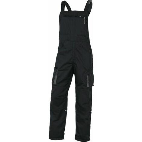 SALOPETTE DE TRAVAIL DELTA PLUS MACH2 EN POLYESTER / COTON NOIR GRIS - M2SA2NO0 - Taille vêtement - 50/52 (2XL) - Gris/Orange