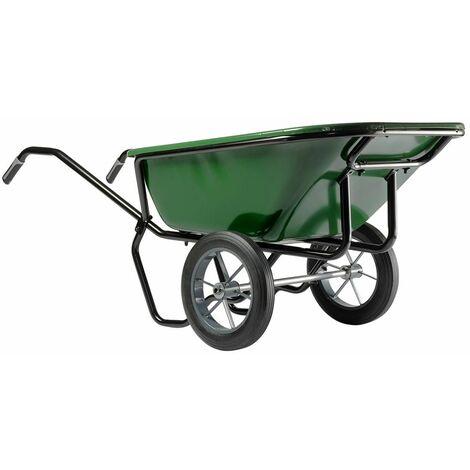 Brouette Haemmerlin Pro Select Expert Twin 230L Peinte 2 Roues Pleines-306053701 - - - Vert