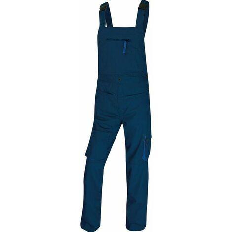 SALOPETTE DE TRAVAIL DELTA PLUS MACH2 EN POLYESTER / COTON BLEU MARINE / BLEU ROI - M2SALBM0 - Taille vêtement - 42/44 (L) - Bleu Marine/Bleu Roi