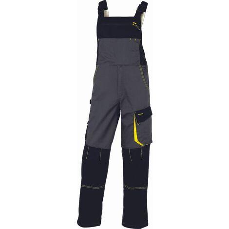 SALOPETTE DE TRAVAIL DELTA PLUS D-MACH EN POLYESTER COTON GRIS/JAUNE - DMSALGJ0 - Taille vêtement - 38/40 (M) - Marron/Vert