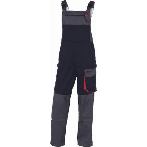 SALOPETTE DE TRAVAIL DELTA PLUS D-MACH EN POLYESTER COTON NOIR / ROUGE - DMSALNR0 - Taille vêtement - 38/40 (M) - Marron/Vert