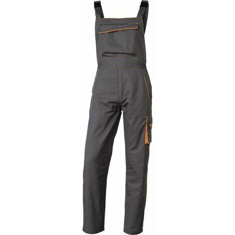 SALOPETTE DE TRAVAIL DELTA PLUS PANOSTYLE® POLYESTER COTON GRIS / ORANGE- M6SALGO0 - Taille vêtement - 54/56 (3XL) - Gris/Orange