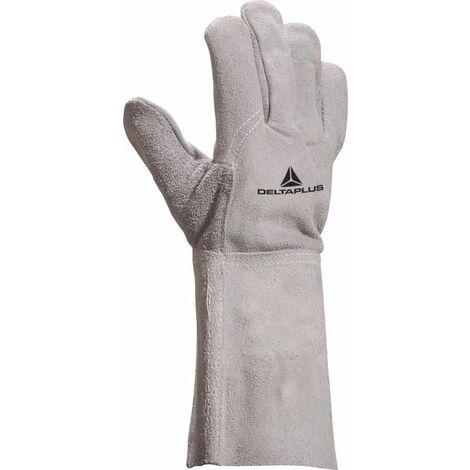 GANT DELTA PLUS SOUDEUR CROUTE BOVIN - MANCHETTE 15 CM - TC7160 - Taille gants - T11 - Gris