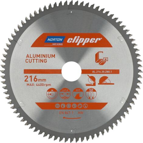 Lame carbure Aluminium 216x2.6/1.8x30 Z80 NORTON CLIPPER - 70184608136 -  -