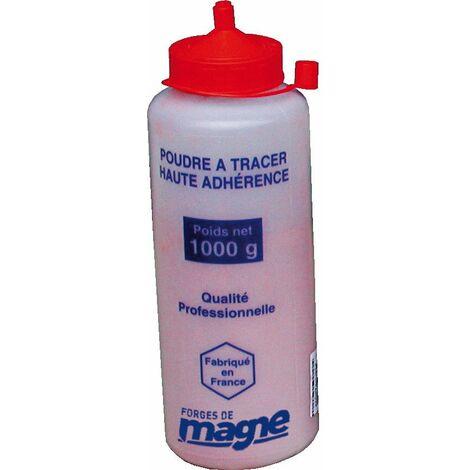 POUDRE À TRACER ROUGE (FLACON DE 1000GR) HAUTE ADHERENCE FORGES DE MAGNE - 388029 -  -