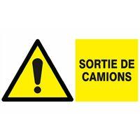 DANGER SORTIE DE CAMION 330X200MM SOFOP TALIAPLAST - 621319 - -