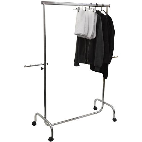 GUISE - Heavy Duty 50kg Garment Hanging Rail / Open Wardrobe - Silver