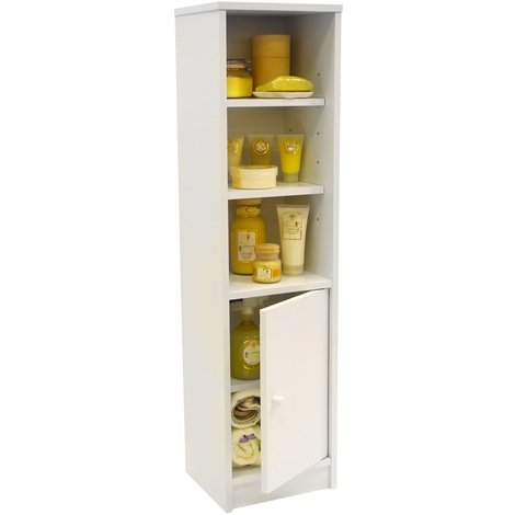 JAMERSON - Compact Storage Cupboard / Bathroom Cabinet with Shelves - White