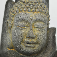 Buddha and Hand Tabletop Indoor Fountain / Water Feature with Pebbles