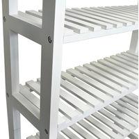 HARTLAND - Over Toilet Bathroom Storage Unit with 4 Shelves - White