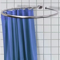 LOOP - Stainless Steel Circular Shower Curtain Rail and Curtain Rings