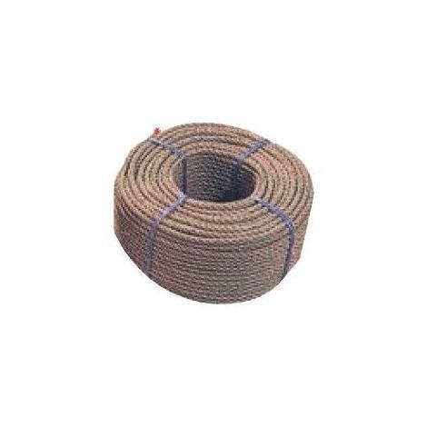 Corde polypropylène texturé chanvre - Diamètre : 6mm - Longueur : 25m