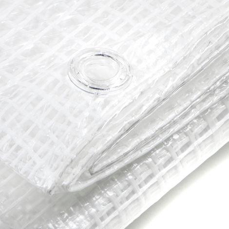 Telo bianco occhiellato retinato antivento antistrappo trasparente varie misure