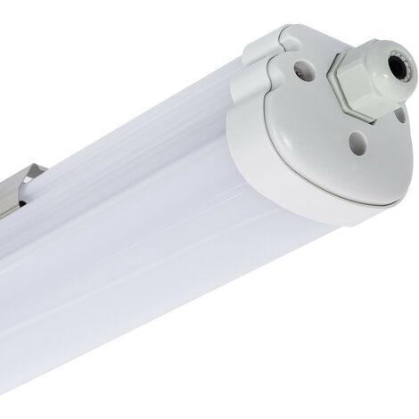 Réglette Étanche Slim LED Intégré 1200mm 36W Blanc Neutre 4000K - 4500K  - Blanc Neutre 4000K - 4500K