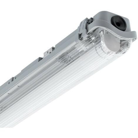 Kit Réglette Étanche Slim avec 1 Tube LED T8 Connexion Latérale 1200mm Blanc Froid 6000K - 6500K   - Blanc Froid 6000K - 6500K