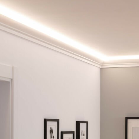 Moulure Plinthe 2m pour Ruban LED Classic Blanc -  Blanc