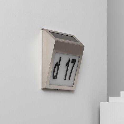 Applique LED Solaire Barua pour Numérotation de Maisons Blanc Froid 6500K - 7000K - Blanc Froid 6500K - 7000K