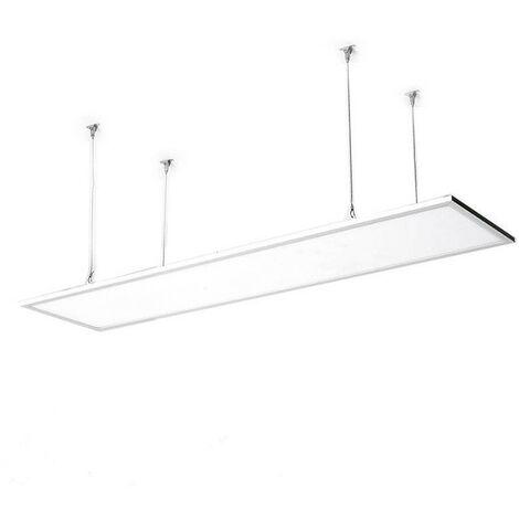 Panneau LED 120x30cm 40W 4000lm LIFUD + Kit de Suspension Blanc Neutre 4000K - 4500K   - Blanc Neutre 4000K - 4500K